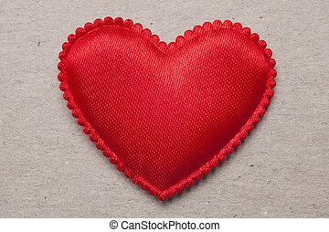 red heart on vintage  paper background