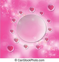 Red heart on white circle
