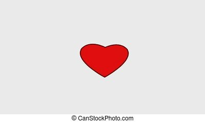 Red heart on white - Symbol love red heart on white...