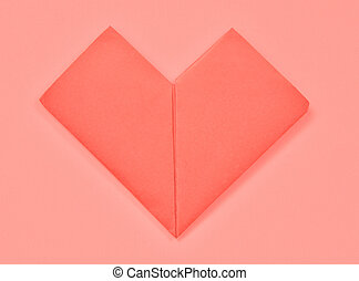 Red Heart paper isolated