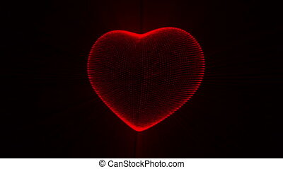 Red Heart. - Pulsing Red Heart Background. Animated Seamless...