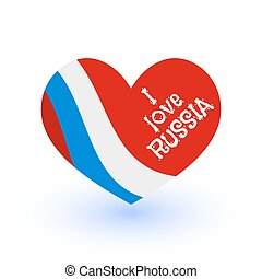 Red heart Russian flag