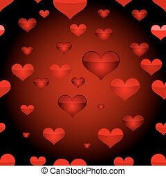 Red heart seamless pattern.