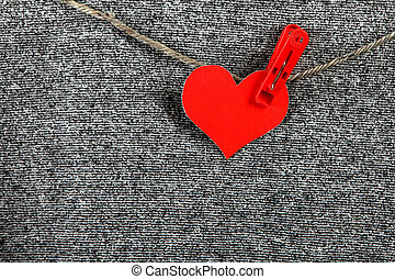 Heart Shape on the Rope