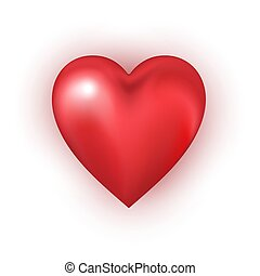 Red heart shape on white background.