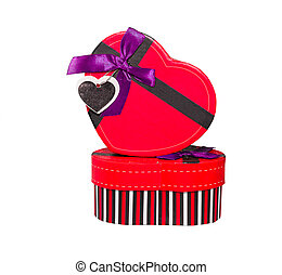 Red Heart shaped box