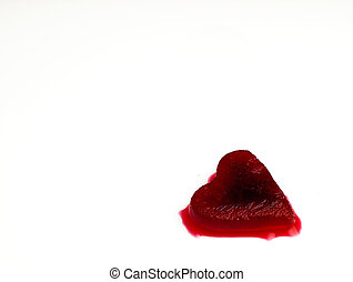 Red heart-shaped ice in the blood. - Heart of red, melting ...