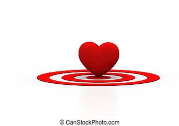 Red Heart sign on the target sign