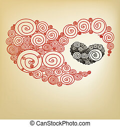 Red heart spiral