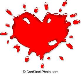 Red heart splash.