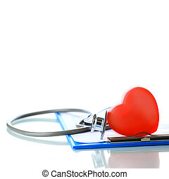 Red heart - Stethoscope with red heart