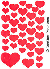 Red Heart Stickers Background