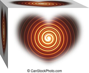 Red Swirl Hart in a Box background