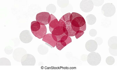 Red heart symbol abstract animation - Red heart symbol on...