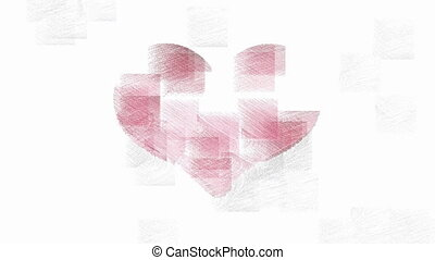 Red heart symbol stylish animation - Red heart symbol on...