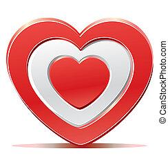 Red heart target aim