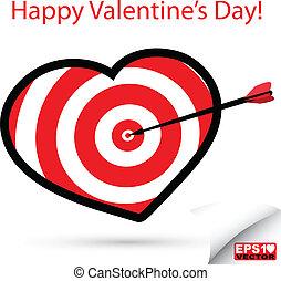 Red heart target vector