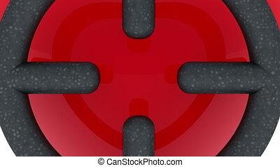 Red heart under the sniper eye