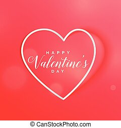 red heart valentine's day beautiful background