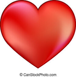 red heart - an image of a red heart