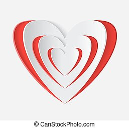 Red heart vector icon.