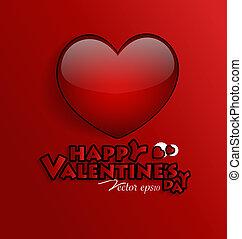 Red Heart, vector Illustration.