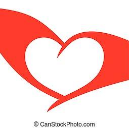 Red heart vector illustration