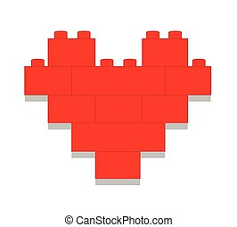 Red heart vector illustration