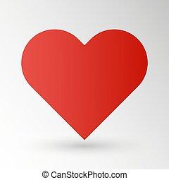 Red heart - vector illustration of Eps10
