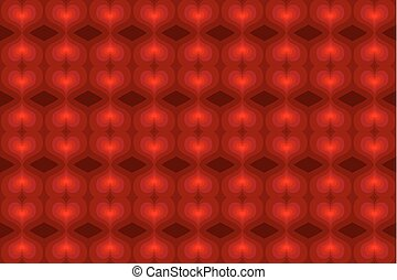 Red heart abstract background