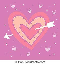 Arrow on target heart bullseye illustration arrow on archery target red heart with arrow illustration on cute background altavistaventures Image collections