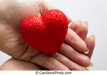 red heart with background