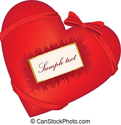 Red heart with bow