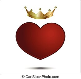red heart with crown