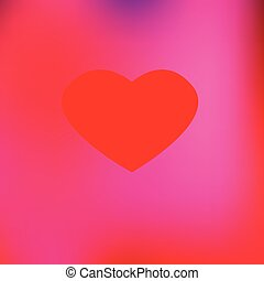 Red Heart with pink shades