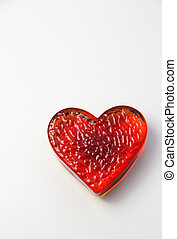 Red heart with place for your text