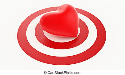 red heart with Target