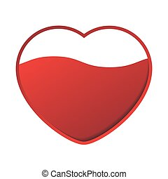 red heart with wave