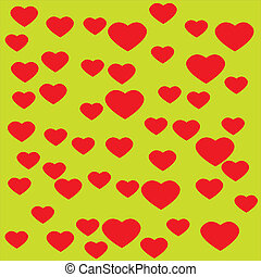 Heart with yellow background
