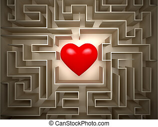 hearth in labyrinth - Red hearth in labyrinth , Find for ...