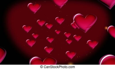 red hearts 4k