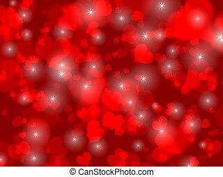 red hearts and stars