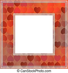 red hearts border