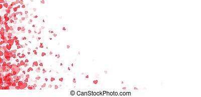 Red hearts confetti in left corner.