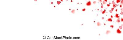 Red hearts confetti on right corner.