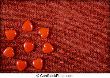 red hearts for Valentine's Day