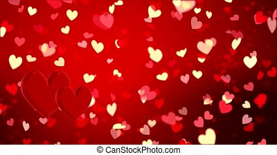 Red hearts. Happy Valentines day background. Red hearts...