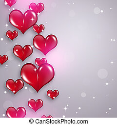 Red Hearts Holiday Background