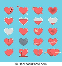 Red hearts icon for Valentine's Day