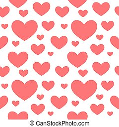 Red hearts seamless texture pattern.